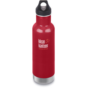 Klean Kanteen Classic Vacuum Insulated Bidon Loop Cap 592ml, mineral red